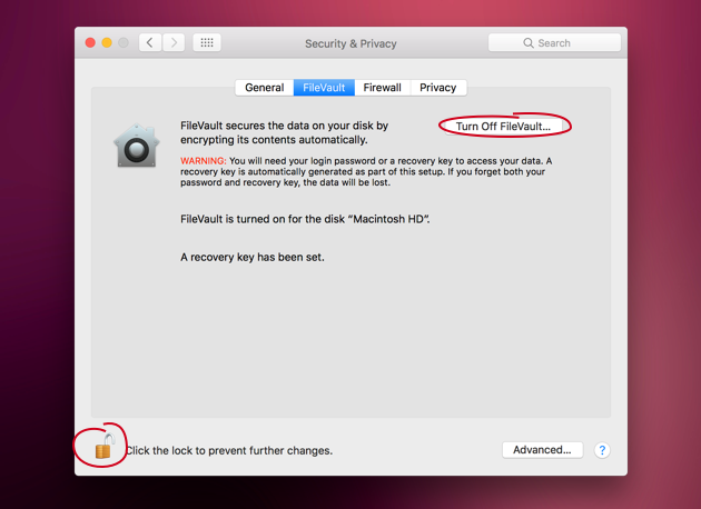 Make a slow Mac faster: disable FileVault encryption