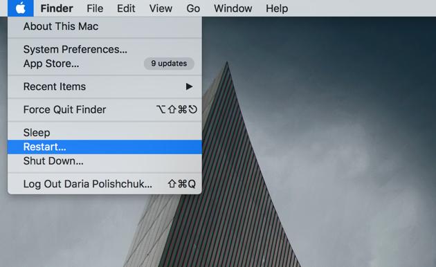 How to speed up Mac | Restart regularly