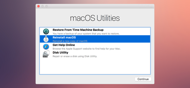 keeps resetting mac