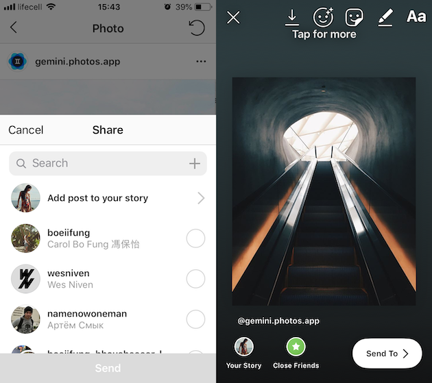 How to repost an Instagram post to Stories