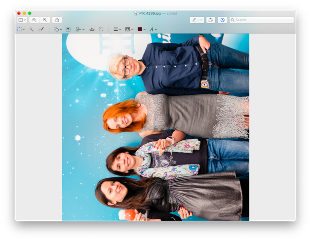 Rotating a picture on Mac with Preview: Screenshot