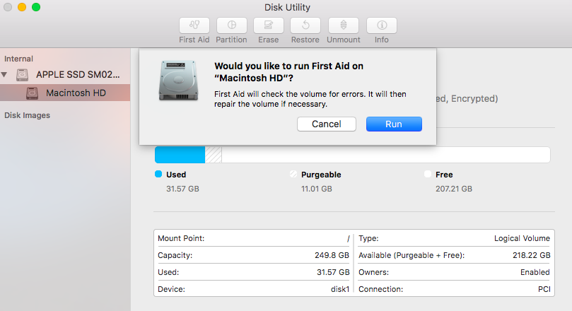 run-disk-utility