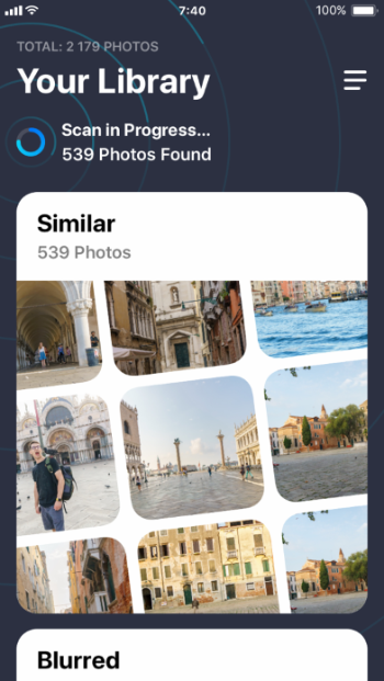Delete iPhone photo bursts with Gemini Photos