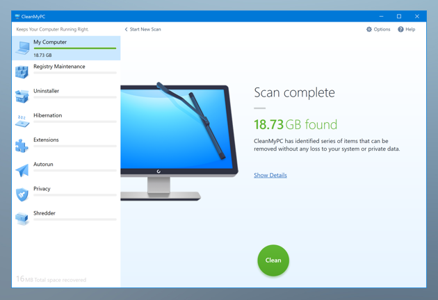 Speed up your PC with CleanMyPC utility