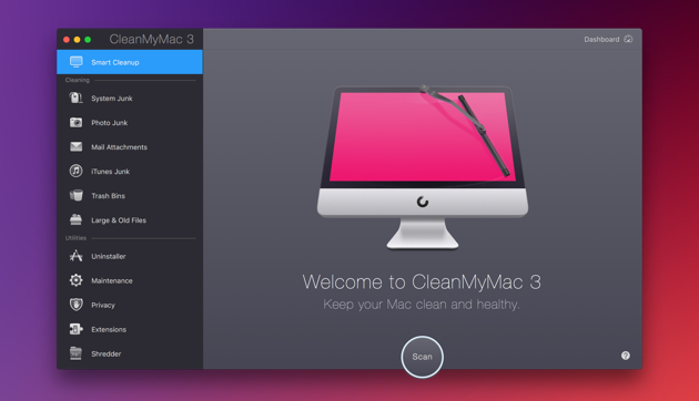 use cleanmymac 3 to speed up mac performance
