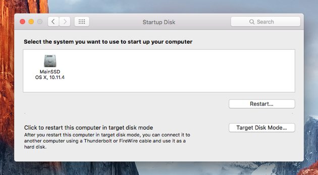 Startup Disk Full | Select the system to start up Mac