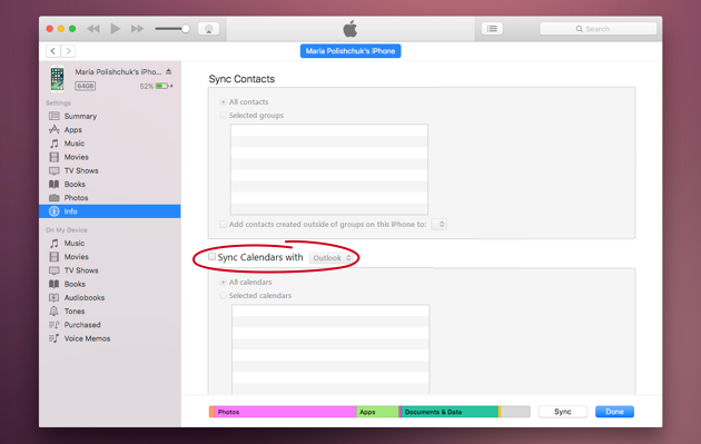 Sync Mac calendar with iPhone