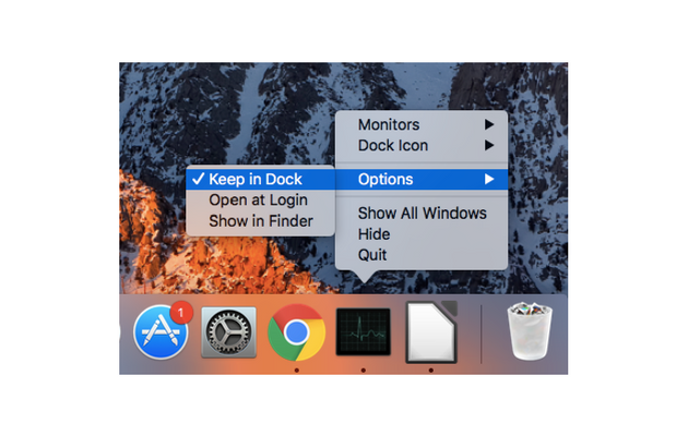 Keep Task Manager in Dock