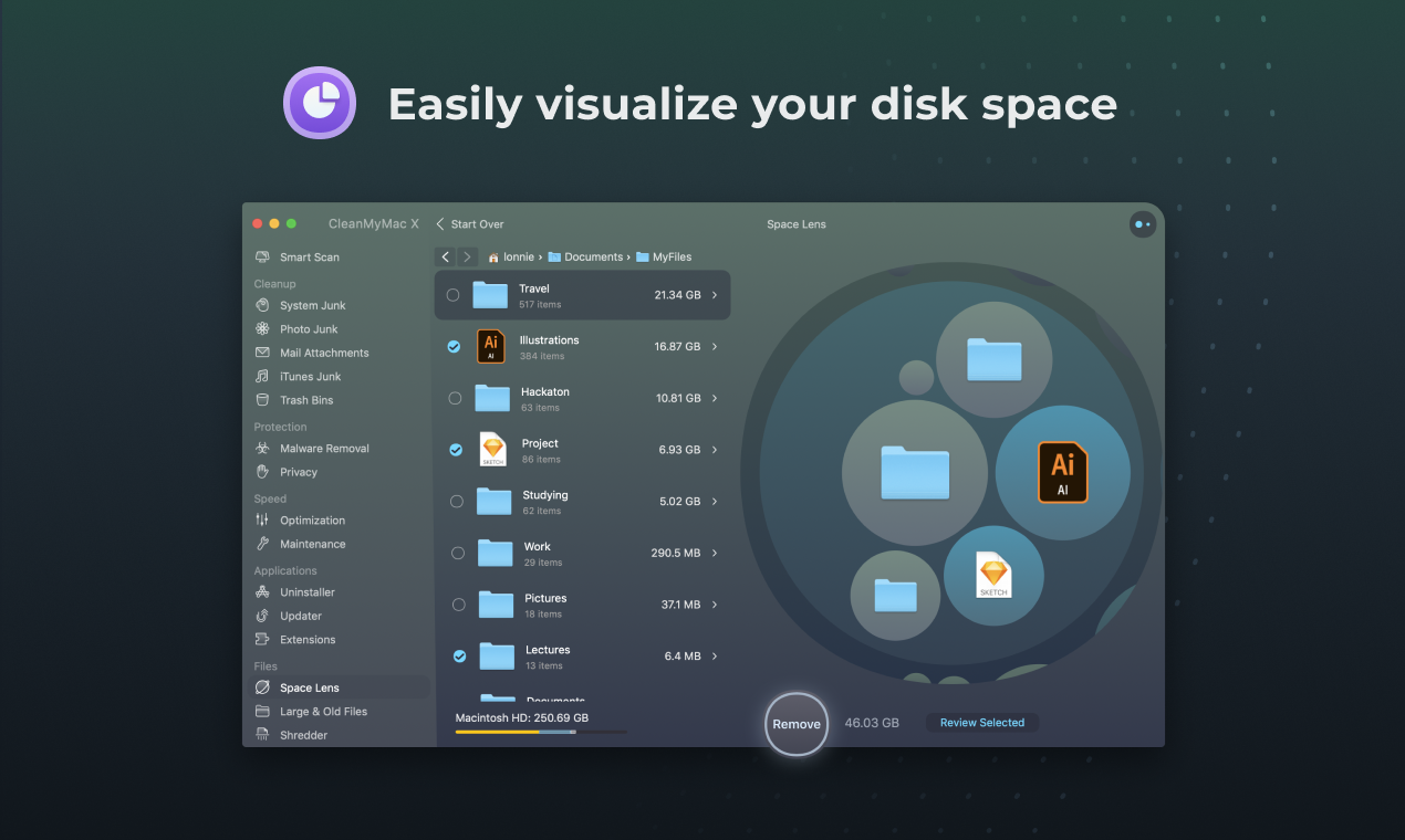 visualize your disk space